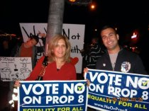 My mom and I at the no on 8 parade in West Hollywood.  This was a great day for me personally for so many reasons.  Truly was amazing to be a part of something so great and have my mom by my side.